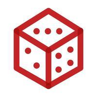 casino dados multiplicar estilo de línea vector
