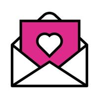 happy valentines day envelope with heart line style vector