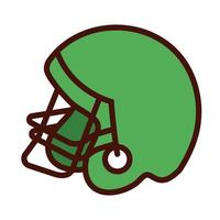 sport american football helmet line and fill icon vector