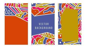 Fondo de redes sociales editables para historias y plantilla de transmisión con formas geométricas de tendencia de colores brillantes ilustración vectorial vector