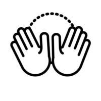 ten hands signal line style vector