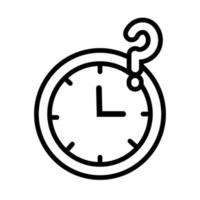 time watch with inerrogation symbol line style vector