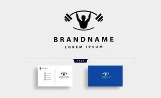 Man bodybuild fitness logo design vector