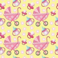 Baby girl pattern vector