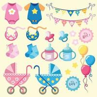 Baby isolated objects vector