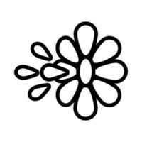 tira de flores broma agua día de los inocentes estilo de línea vector