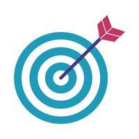 target arrow flat style icon vector