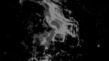 svart till vit grunge flytande alfa-matt effekt video
