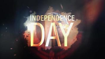 le jour de lindépendance tournez la boucle cinématographique de lumière flare du monde video