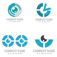 Branding Identity Corporate Eye Care vector logo design