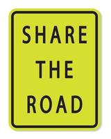 Share The Road Sign on white background vector