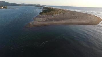 Aerial shot of Siletz Bay, Lincoln City, Oregon video