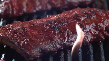 costole per barbecue, girate su phantom flex 4k video