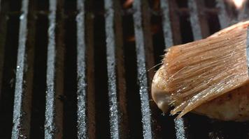 Grilled chicken breast on grill, shot on Phantom Flex 4K video