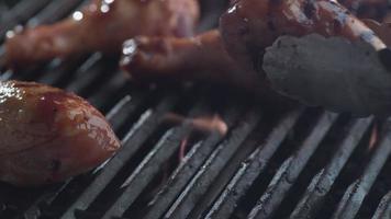 Barbeque chicken on grill, shot on Phantom Flex 4K video