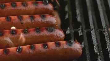 Hot dogs on grill, shot on Phantom Flex 4K video