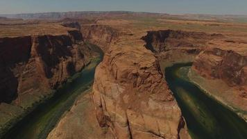 Aerial view of Grand Canyon Horseshoe Bend and Colorado River Arizona, United States video