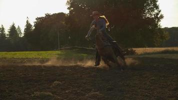 Woman horseback riding in super slow motion, shot on the Phantom Flex 4K at 1000fps video
