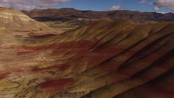 Aerial view of the Painted Hills, Oregon video