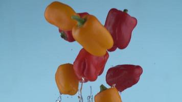 Peppers flying in slow motion, shot with Phantom Flex 4K at 1000 frames per second video