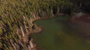 Aerial view of Sparks Lake, Oregon video