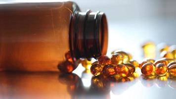 close up de vitaminas video