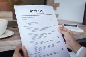 HR audit resume applicant paper photo
