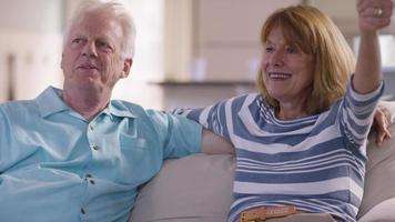 Boy talking selfie with grandparents video