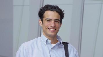 Portrait of young businessman video