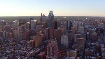 Aerial view of Philadelphia, Pennsylvania video