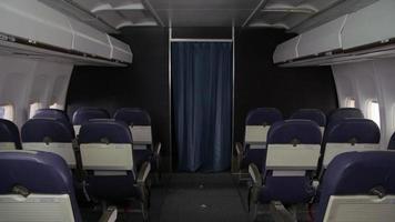 interni di aereo di linea senza persone video