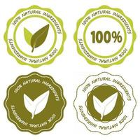 Natural product Vegan Icon for product with natural ingredients vector