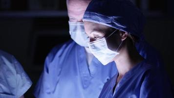 Closeup of surgeon working video