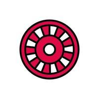 icono aislado del casino de la rueda de la ruleta vector