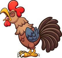 gallo de dibujos animados cantando vector