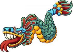 serpiente de dibujos animados quetzalcoatl vector