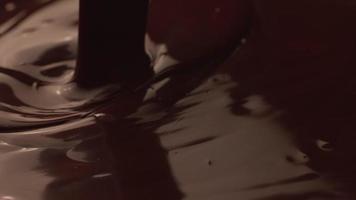 Pouring melted chocolate in super slow motion, shot on Phantom Flex 4K video