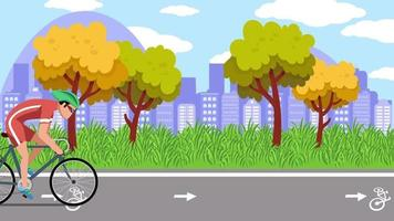 The Bicycle Road Around The City video