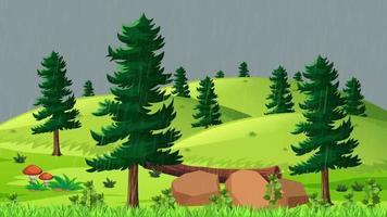 el clima es lluvioso en la llanura verde video