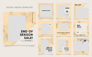 fully editable social media template blog fashion banner sale promotion vector