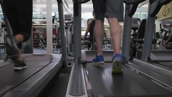 gente corriendo en cintas de correr en el gimnasio video