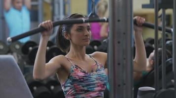 Young woman at gym video