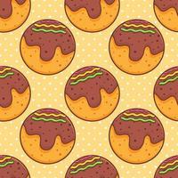 takoyaki food seamless pattern illustration vector
