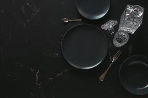 Flat lay of some dining articles for wealthy people photo