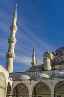 Suleymaniye mosque courtyard in Istanbul Turkey photo