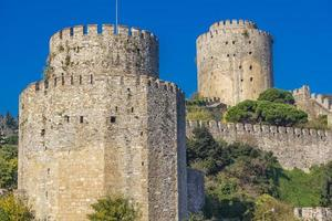 Rumelian Castle on the European banks of the Bosphorus in Istanbul Turkey photo