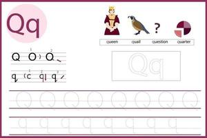 learn the letter Q vector