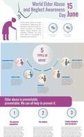 World Elder Abuse Awareness Day vector