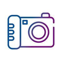 camera photographic gradient style icon vector