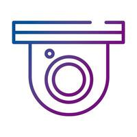 cctv camera dome security gradient style icon vector